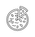 pie bakery line icon sign on vector image vector image