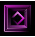 Purple neon square background vector image