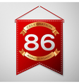 Red pennant with inscription Eighty six Years vector image
