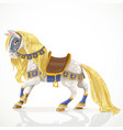 royal horse with a golden mane in harness vector image