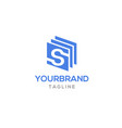 s logo design vector image