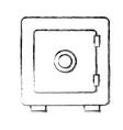 safe deposit box vector image vector image