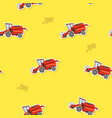 seamless pattern with farm combine vector image