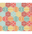 Seamless pattern with hexagons -