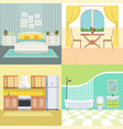 set modern interior of living house vector image vector image