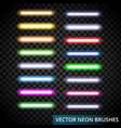 set of color laser brushes you can creat neon vector image