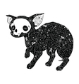 Small dog tattoo vector image vector image