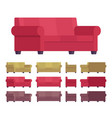 sofa furniture set vector image vector image