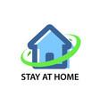 stay at home - corona virus quarantine vector image vector image