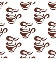 Steaming cup of espresso coffee seamless pattern vector image vector image