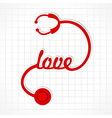 Stethoscope make love word vector image vector image