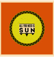 summer sun typographical retro poster vector image