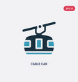 two color cable car icon from travel concept vector image vector image