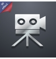 Video camera icon symbol 3D style Trendy modern vector image vector image