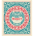 Whiskey card with vintage frame vector image