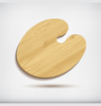 wood art paletteisolated on white background vector image