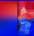 abstract geometric and blurred background vector image