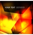 abstract orange color on a dark background vector image
