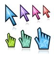Crystal mouse cursors vector image