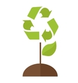 Tree with recycle symbol vector image