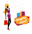 young woman shopping vector image