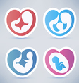 family and parenting abstract symbols vector image