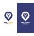 lion logo or symbol design template vector image