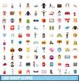 100 shop icons set cartoon style vector image vector image