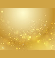 abstract gold bokeh background light effect vector image vector image