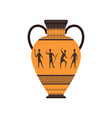 ancient vase or amphora with traditional roman vector image