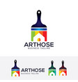 art house logo design vector image vector image
