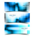 Banner Backgrounds for business card or corporate vector image vector image