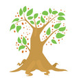 big tree icon cartoon style vector image vector image