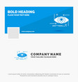 blue business logo template for advanced future vector image vector image