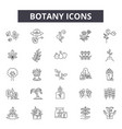 botany line icons for web and mobile design vector image