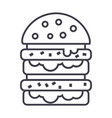 burgerhamburger line icon sign vector image