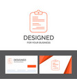 business logo template for report medical paper vector image