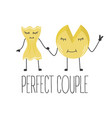 cheese and pasta perfect couple vector image vector image