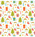 christmas seamless pattern cute background with vector image vector image