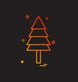 christmas tree icon design vector image