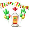 cinco de mayo tequila bunting balloon vector image vector image