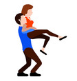 couple hugging each other valentine day vector image