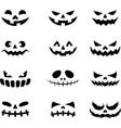 devil face icons black color vector image