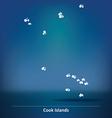 Doodle Map of Cook Islands vector image
