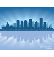 Edmonton Canada skyline vector image vector image