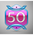 Fifty years anniversary celebration silver logo vector image vector image