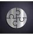 Flat metallic logo puzzle vector image vector image