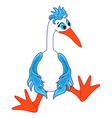 Funny stork sitting vector image