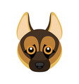 german shepherd dog avatar vector image vector image