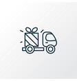 gift delivery icon line symbol premium quality vector image vector image